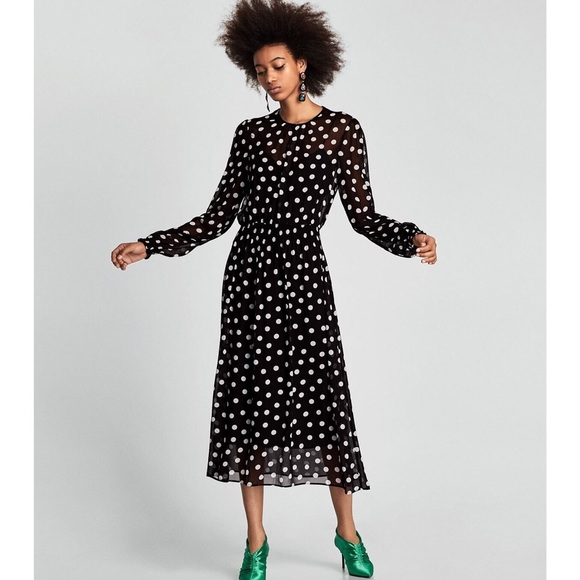 399ea1af Zara polka dot long sleeve maxi dress. M_5be6139c4ab6338bd168873d